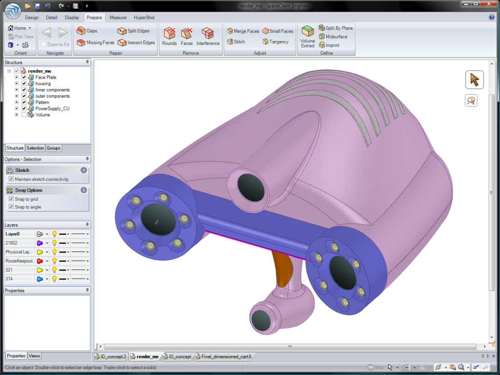 Innovative computer aided design software for productive 3d printer design software